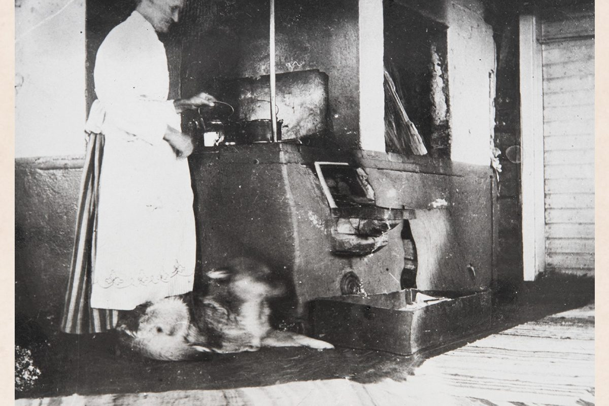 Making coffee on a wood stove. Photo: KUHMU