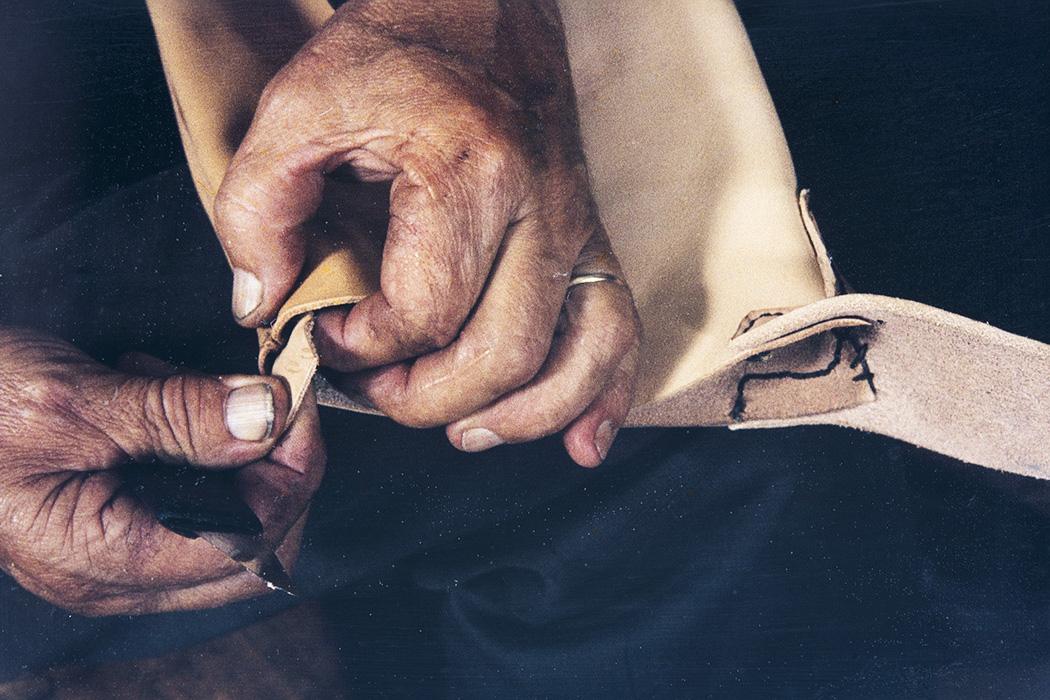 Сшитое и вывернутое голенище, 1982 г. Снимок: Кари Ямсен / КУХМУ