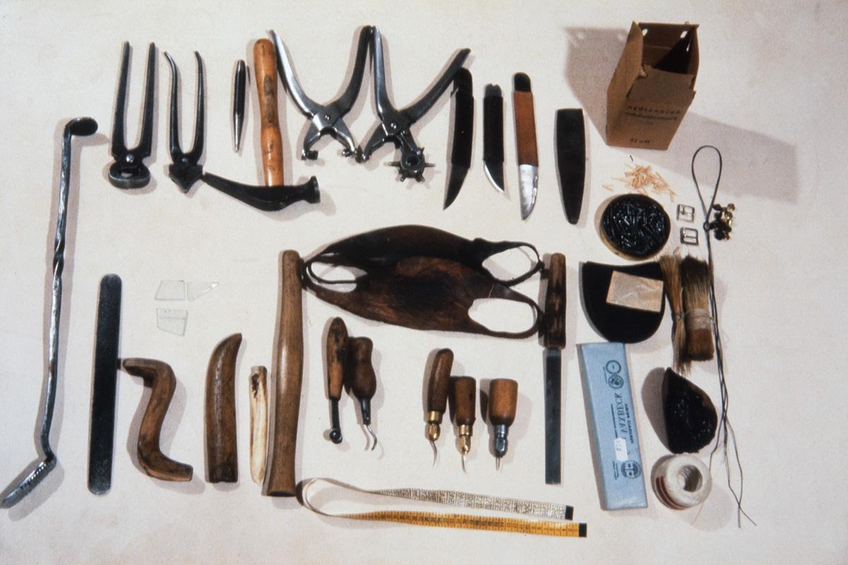 Инструменты сапожника Вихтори Хейккинена, 1978 г. Снимок: Юха Миеттинен / КУХМУ