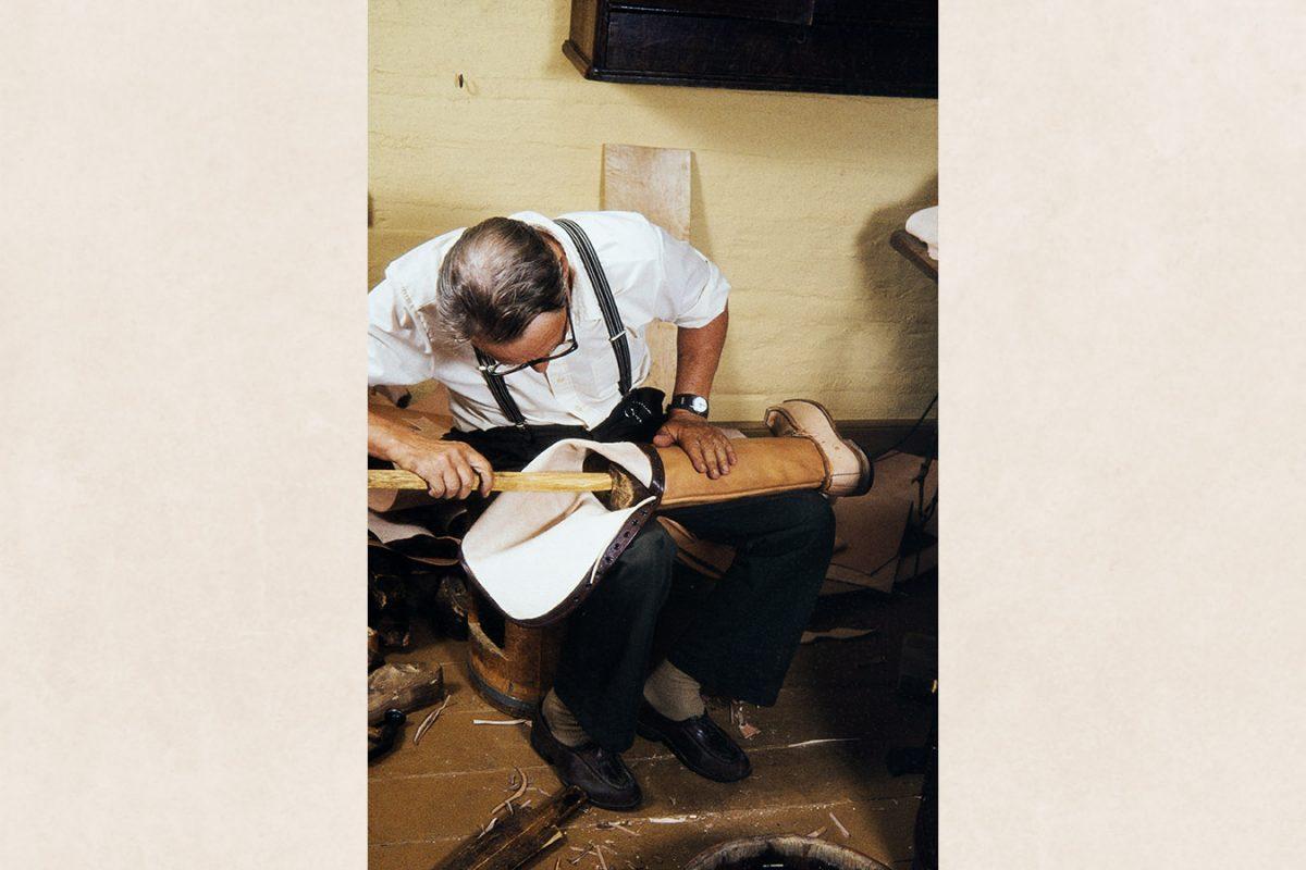 Закладывание распорки, 1982 г. Снимок: Кари Ямсен / КУХМУ
